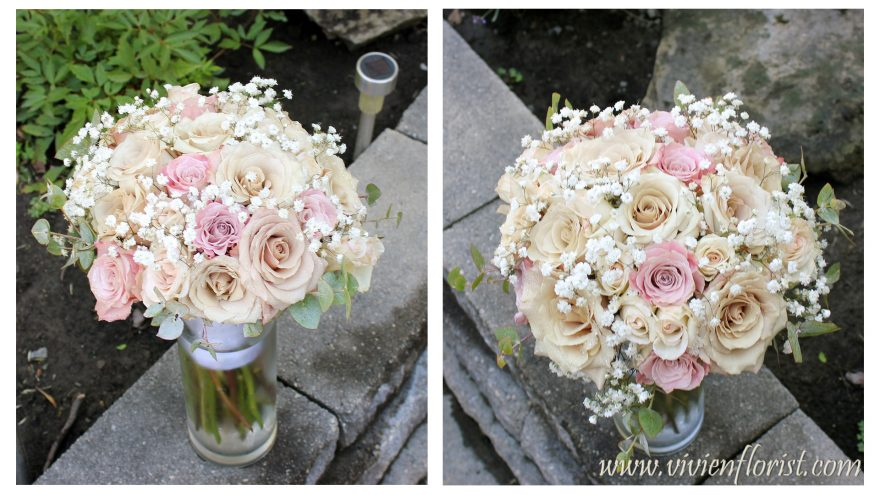 Classic yet Trendy Roses Wedding Bouquet