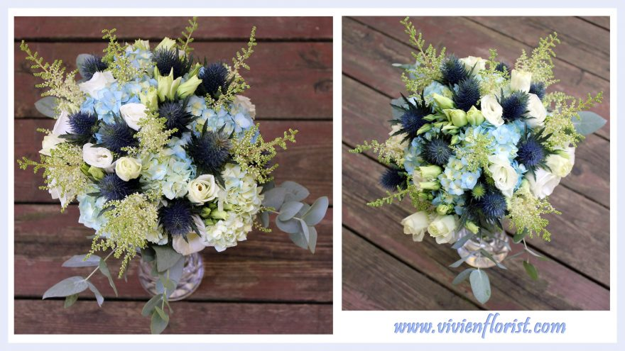 Blue Garden Wedding Bouquet