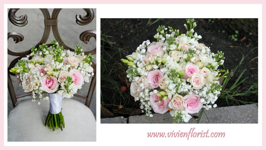 Pretty Pink Wedding Bouquet